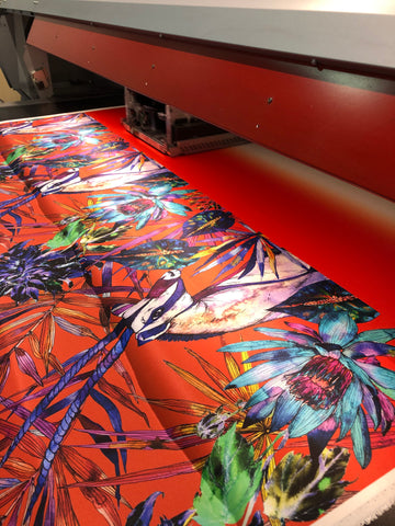 Sika'a African design being printed at The Silk Bureau