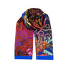 Hand painted African print silk scarf