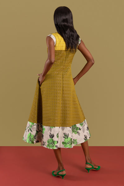 Elodie Jacquard Midi Dress