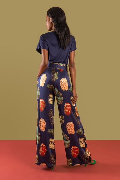Amahle Silk Palazzo Trousers