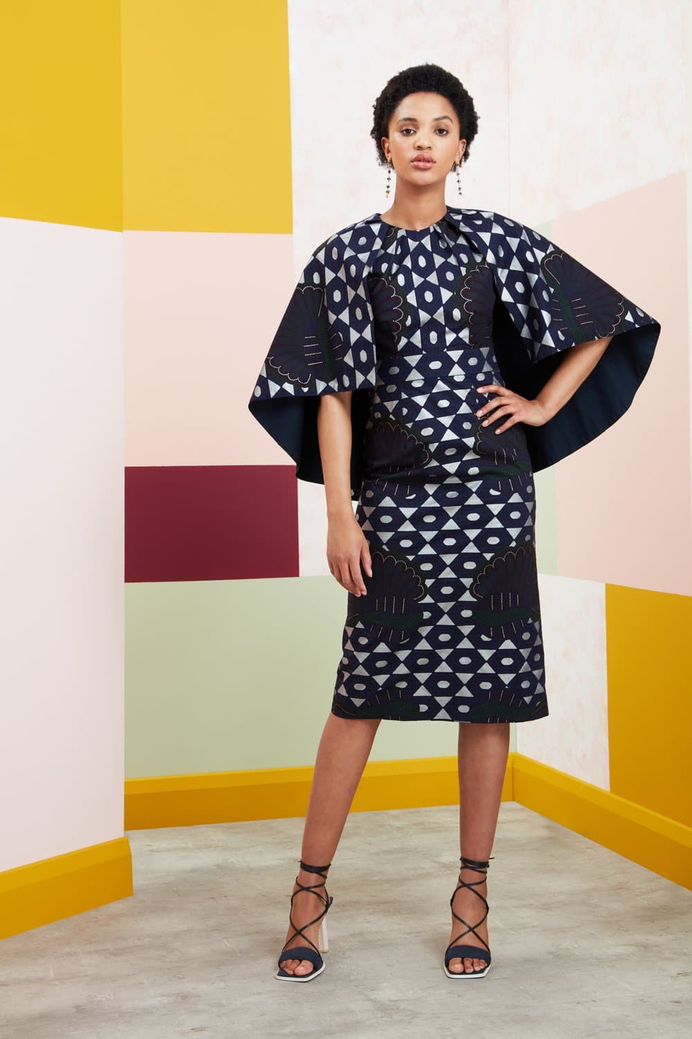 Vinyago Midi Cape Dress
