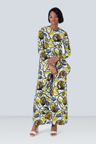 Lanmi Long Sleeves African Print Blouse