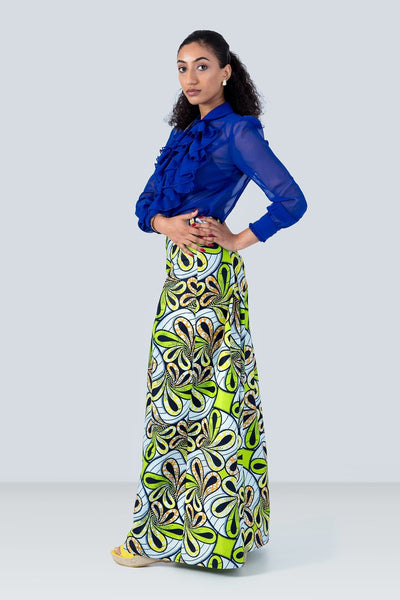 Karibou Wide Leg Cropped  Floral African Print Trousers