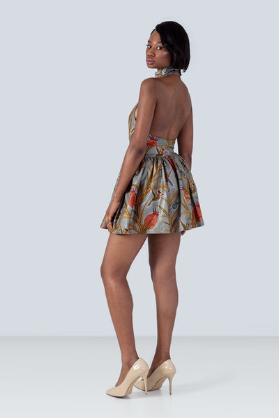 Sika'a Java African Print Halterneck Mini Dress