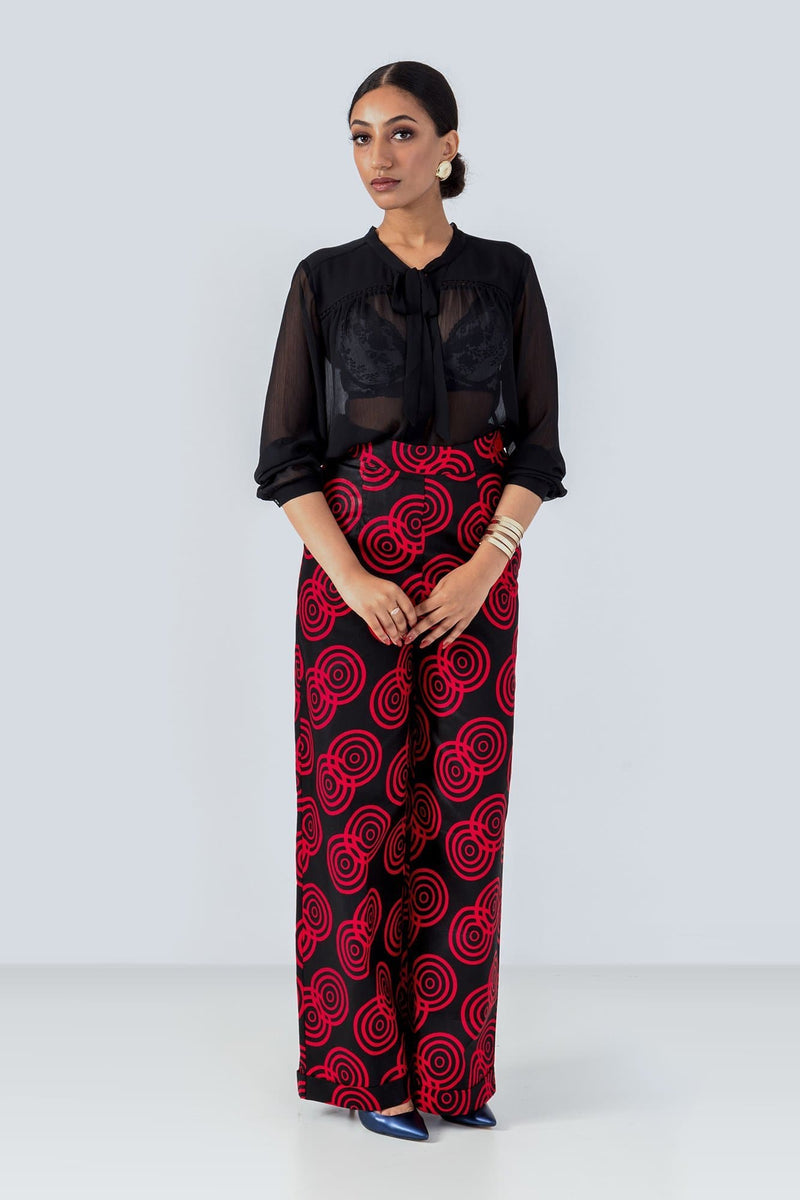 Sika'a African Print Wide Leg Tailored Trousers
