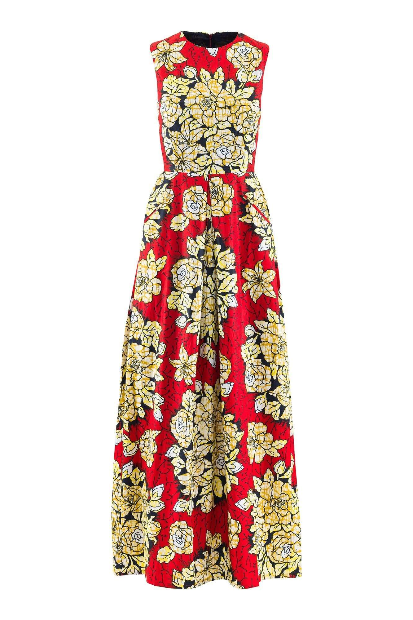 Sikaa sleeveless floral detail african print maxi dress sikaa sikaa sleeveless floral detail african print maxi dress nvjuhfo Choice Image