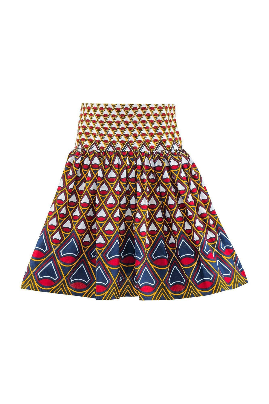 Sika'a Idayimane High Waisted African Print Mini Skirt