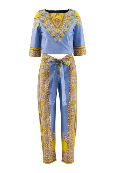 Sika'a Spring Dashiki Print Trousers And Top Set