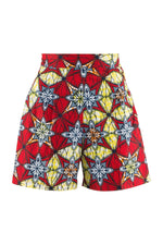 Samba Tailored Red and Yellow African Print Shorts