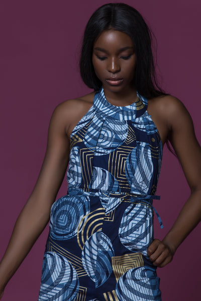 Sika'a Halterneck WaxWax African Print Jumpsuit