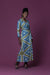 Nia African Print Silk Jersey Wrap Long-Sleeved Maxi Dress