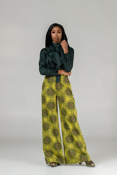 Flora High-Waist Wide-Legs Trousers