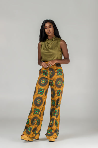 Lais High-Waist Wide-Leg Trousers