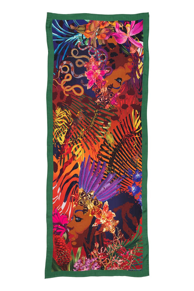 """African Queens"" Hand Painted Silk Scarf"