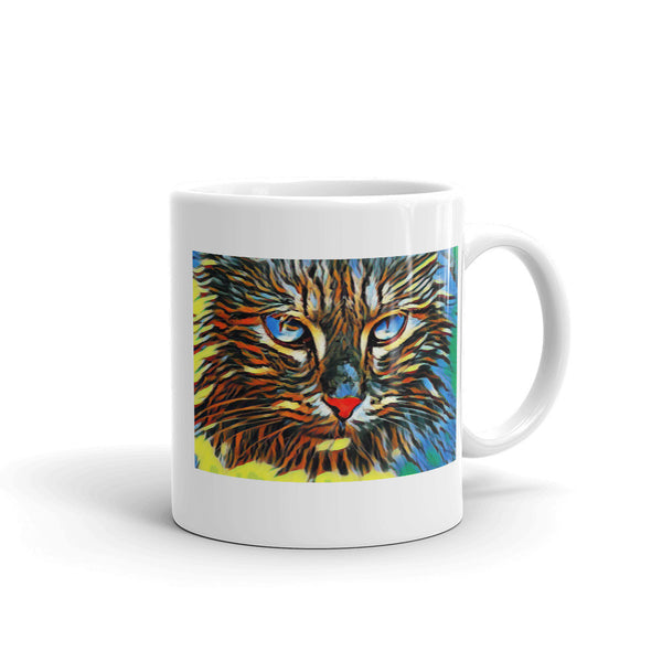 Cat Intensity 11oz White Ceramic Mug