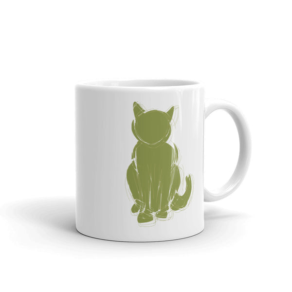 Catify 11oz White Ceramic Mug