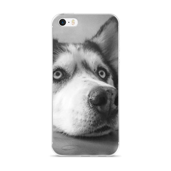 Siberian Husky Black and White iPhone 5/5s/Se, 6/6s, 6/6s Plus Case