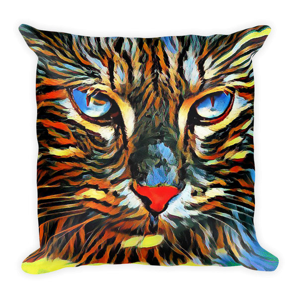 Cat Intensity Square Pillow