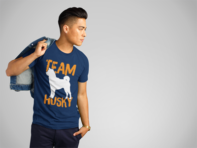 """Team Husky"" Men's short sleeve t-shirt"