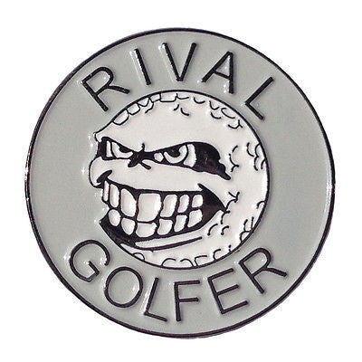 'Rebellious' Golf Ball Marker - Grey