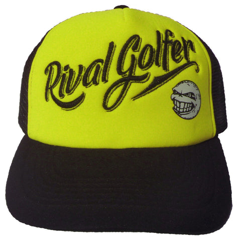 Vivid 'Trucker' Hat in Yellow.