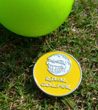 'Electric Yellow' Golf Ball Marker