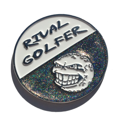 Holographic 50/50 Golf Ball Marker