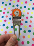 Divot 'Destroyer' Tool w/ Electric Orange Ball Marker