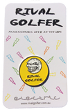 yellow golf ball marker by Rival Golfer