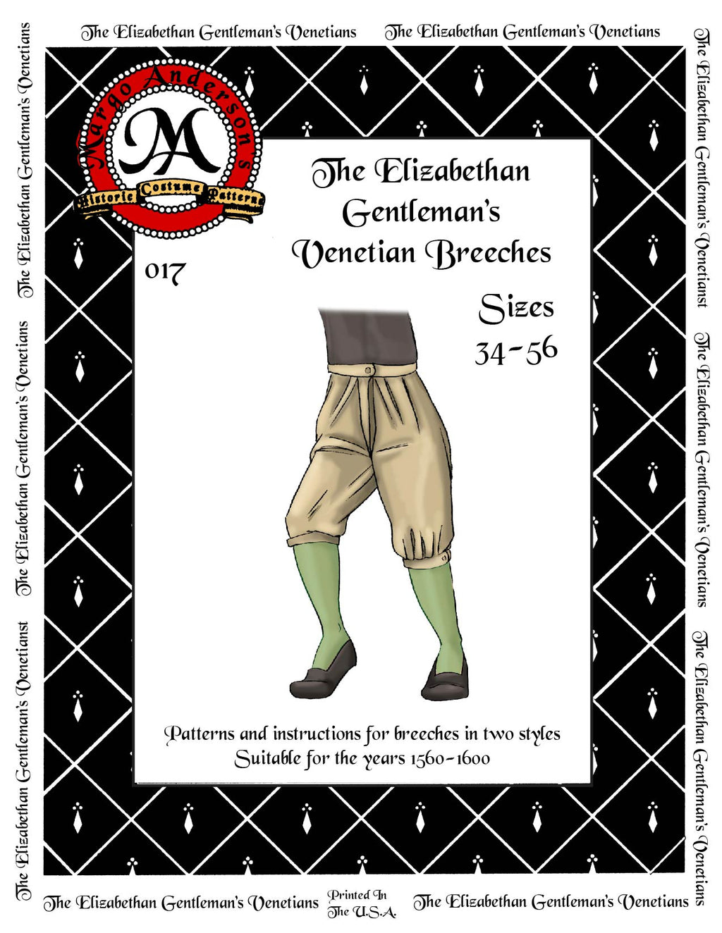 017D The Elizabethan Gentleman's Venetian Breeches Digital Download