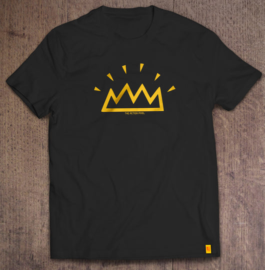 The Shining Crown black t-shirt designed by The Action Pixel #StyleOnTAP #TAPTees #EntertainmentOnTAP