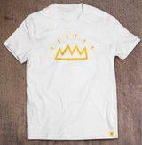 The Shining Crown white t-shirt designed by The Action Pixel #StyleOnTAP #TAPTees #EntertainmentOnTAP