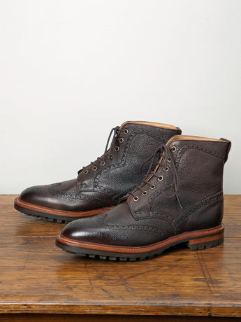 Alfred Sargent Hannover Calf Brogue Boot (Walnut Grain)