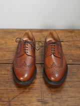 Lissom + Muster Stepney Pebble Grain Brogue Shoes (Burnished Brown)