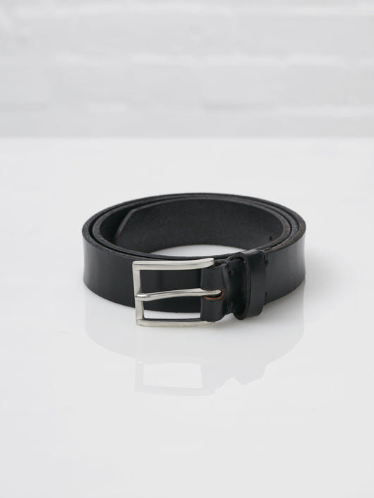 Lissom + Muster x Cherchbi English Bridle Leather and Pewter Belt (Black)