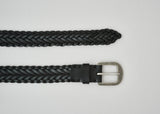 Awling Braided Belt - Pitch Black / Pewter