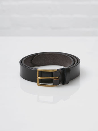 Lissom + Muster x Cherchbi English Bridle Leather and Brass Belt (Havana)