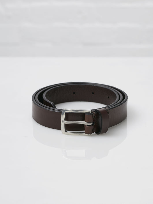 Lissom + Muster x Cherchbi English Bridle Leather and Pewter Belt (Chestnut)