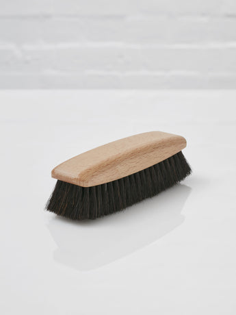 Shoe Polishing Brush (Dark Horsehair)