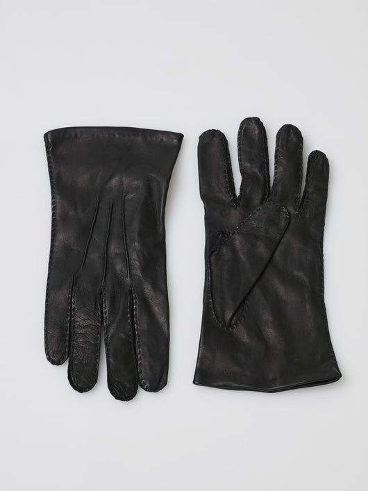 Chester Jeffries Cape Leather Dress Gloves, Silk-Lined (Black)