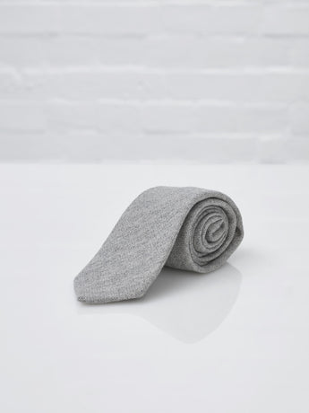 Drake's Pure Cashmere Tie (Light Grey)