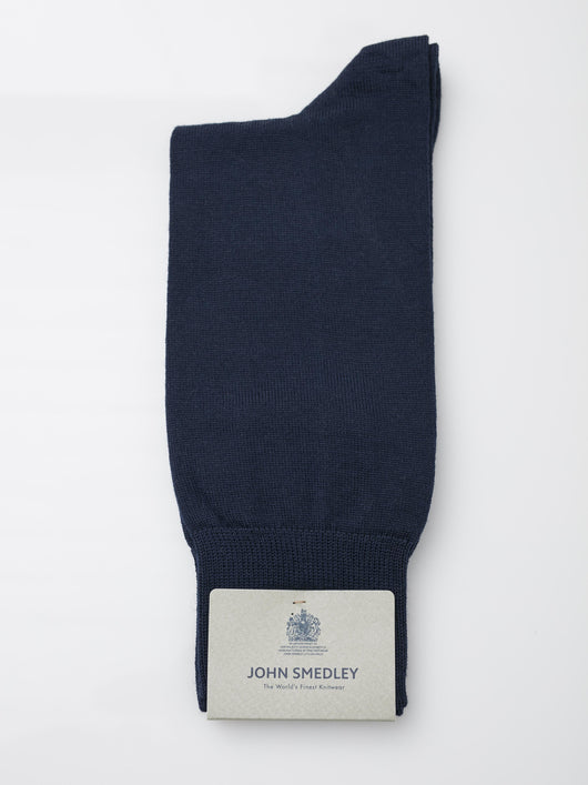 John Smedley Beta Merino Socks (Midnight)