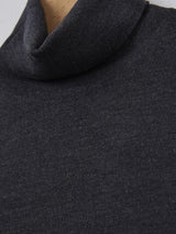 John Smedley Connell Merino Roll Neck (Charcoal)