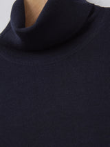 John Smedley Connell Merino Roll Neck (Midnight)