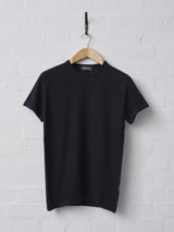 John Smedley 2.Singular Short Sleeve Merino T-Shirt (Midnight)