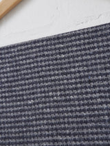 Johnstons of Elgin Hairline Check Scarf (Blue + Grey)