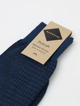 Marwood Merino Split Design Socks (Cobolt/Navy)