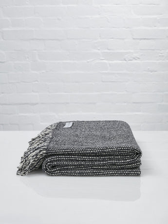 Mourne Textiles Handwoven Tweed Emphasize Throw (Monochrome II)