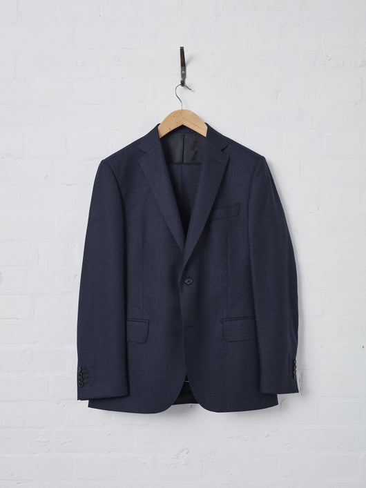 Lissom + Muster 2 Piece Suit Super 120s Wool (Navy)