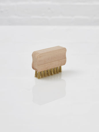 Small Suede Brush (Beechwood and Brass)